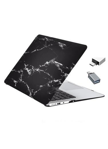 "Mcstorey MacBook Retina A1534 A1931 12"" Kılıf Sert Kapak Koruma Hard Incase Mermer Zebra"